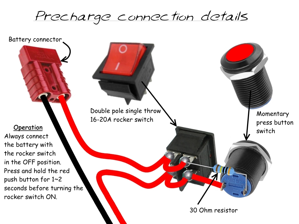 On Off Switch To The Controller Wiring Switches In Parallel Double Pole Rocker Has Both Sets Of Contacts Connected Enable It Twice As Much Current Set Will Be