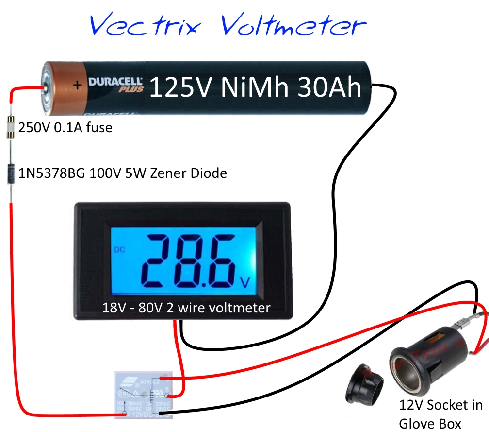 12v Meter Wire Diagram Not Lossing Wiring Led Switch 250vac Voltmeter 28 Images Timer